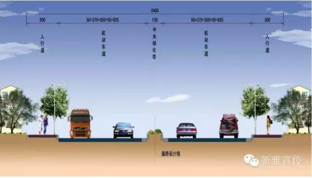 道路横断面图